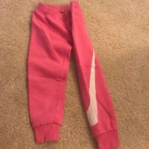 Pink NIKE children's sweatpants
